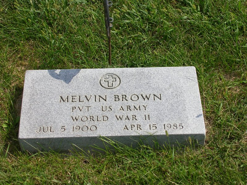 Melvin Brown Grave Photo