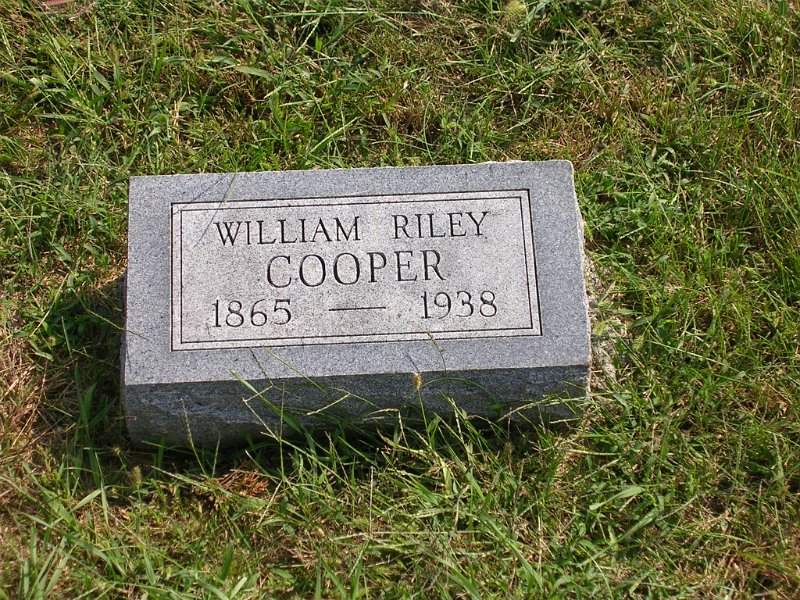 William Riley Cooper Grave Photo