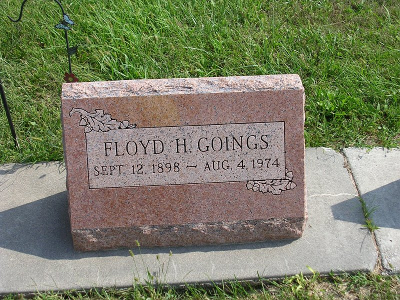 Floyd H. Goings Grave Photo