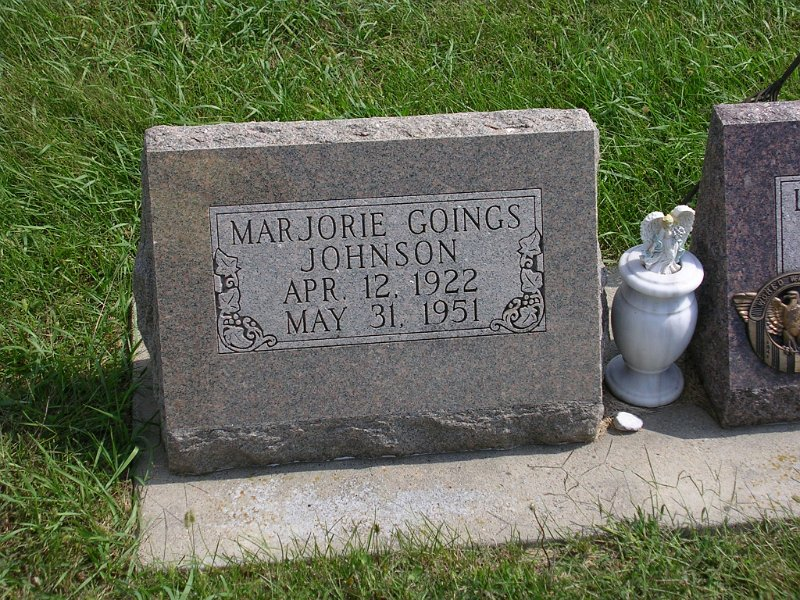 Marjorie Goings Johnson Grave Photo