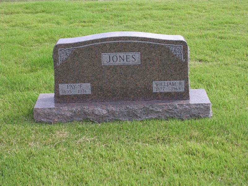 William R. Jones Grave Photo