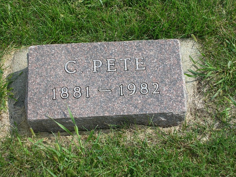 C. Pete Lockwood Grave Photo