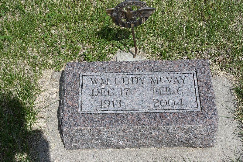 Wm. Cody McVay Grave Photo