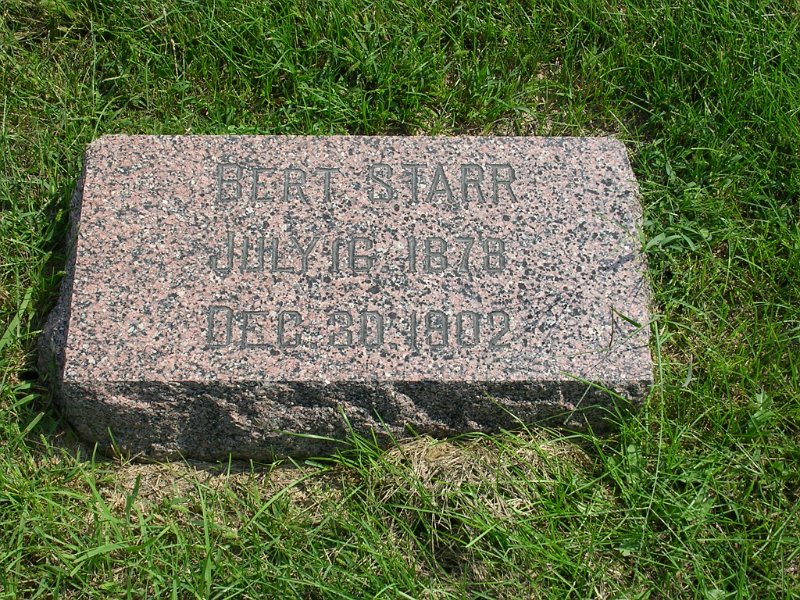 Bert Starr Grave Photo